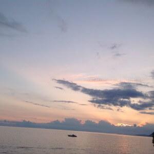 гагра море из окна