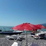 Абхазия отдых частный сектор Гагра пляж рядом с нашим гостевым домом.