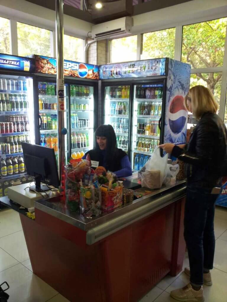 Абхазия Гагра цены на продукты питания. Магазин мини маркет рядом с нашим гостевым домом.